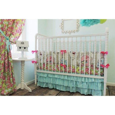 Beautiful Bird Baby Bedding | Aqua, Pink Crib Bedding-Crib Bedding Set-Default-Jack and Jill Boutique