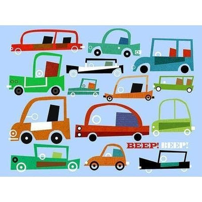 Beep Beep Automobiles | Canvas Wall Art-Canvas Wall Art-Jack and Jill Boutique