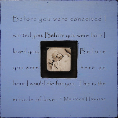 Before You Were Conceived Photobox Frame-Photoboxes-Default-Jack and Jill Boutique