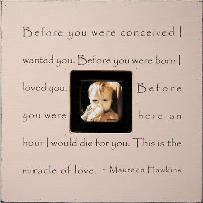 "Handmade Wood Photobox with quote ""Before You Were Conceived""-Photoboxes-Default-Jack and Jill Boutique"