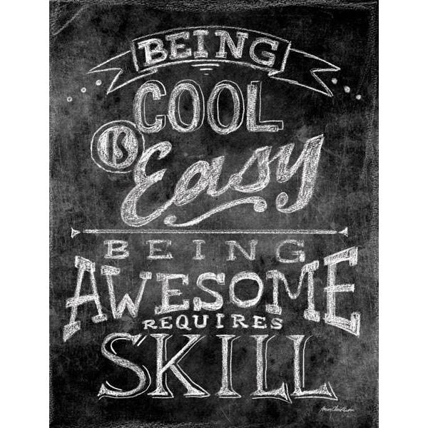 Being Cool is Easy | Science Art Collection | Canvas Art Prints-Canvas Wall Art-Jack and Jill Boutique