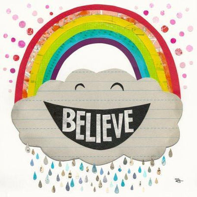 Believe Rainbow | Canvas Wall Art-Canvas Wall Art-Jack and Jill Boutique