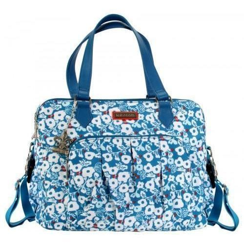 Berlin Nylon - Berry Blossom Teal Diaper Bag | Style 2996 - Kalencom-Diaper Bags-Default-Jack and Jill Boutique