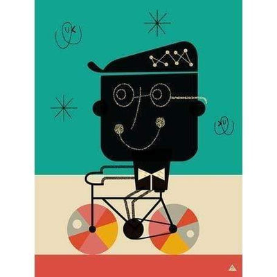 Bicycle Man | Canvas Wall Art-Canvas Wall Art-Jack and Jill Boutique