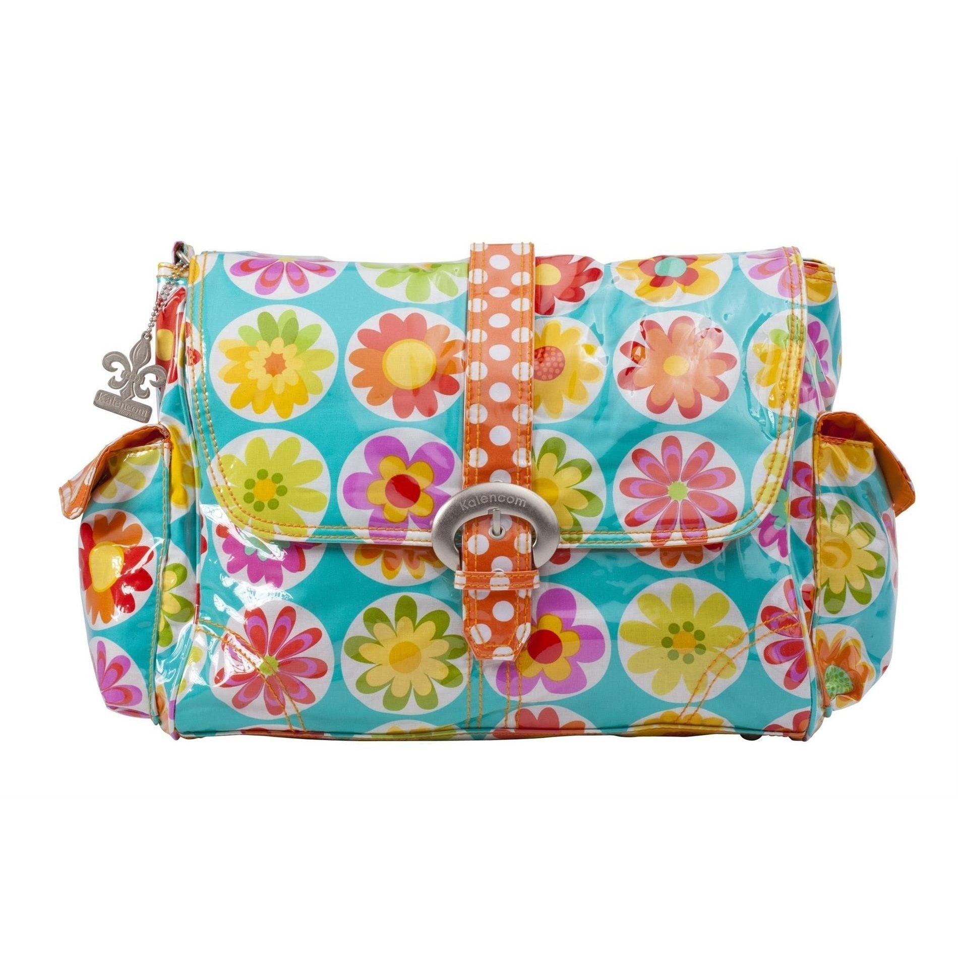 Big Daisy Laminated Buckle Diaper Bag | Style 2960 - Kalencom-Diaper Bags-Jack and Jill Boutique