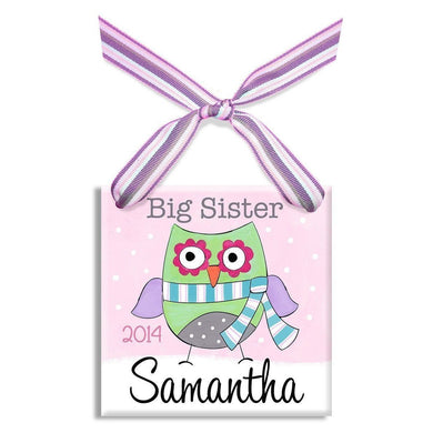 Big Sis Owl Ornament