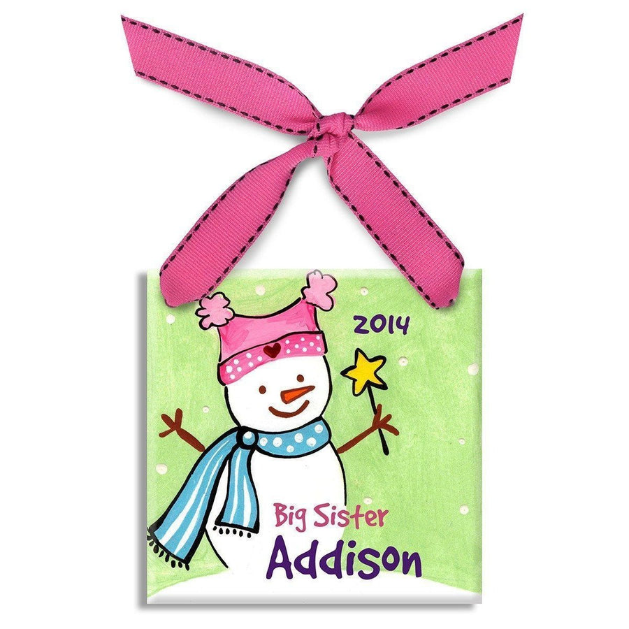 Big Sister Snowman Ornament-Ceramic Ornament-Default-Jack and Jill Boutique