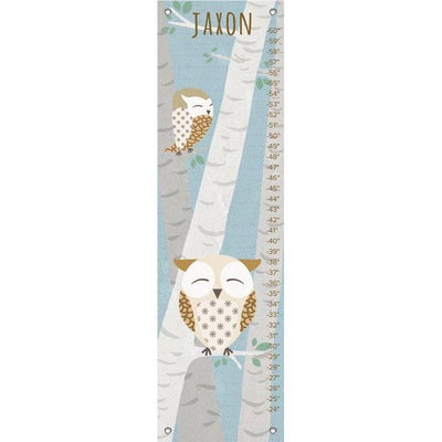 Birchwood Owl - Blue Growth Charts-Growth Charts-Default-Jack and Jill Boutique