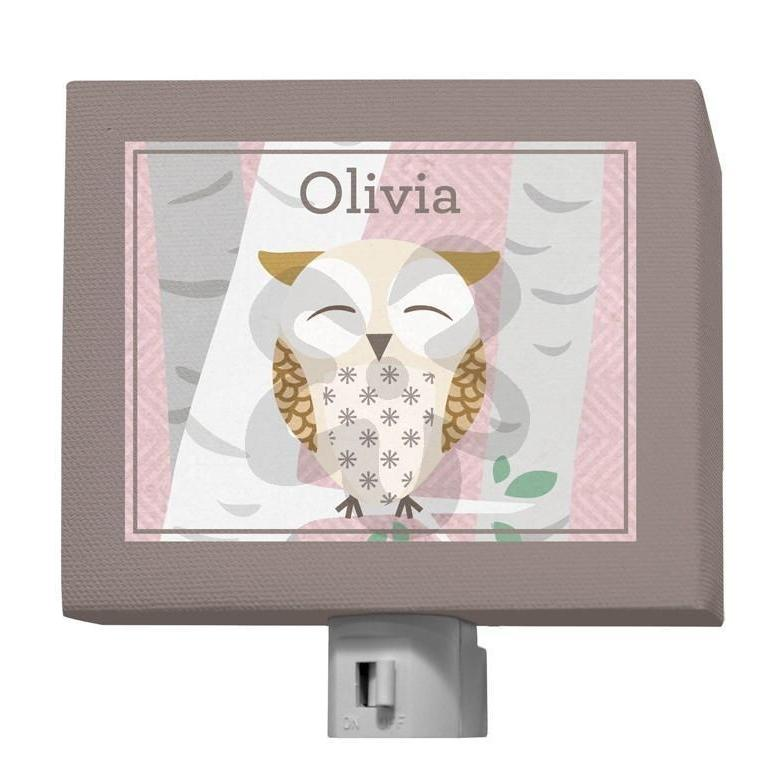 Birchwood Owl - Pink-Night Lights-5x4-Jack and Jill Boutique