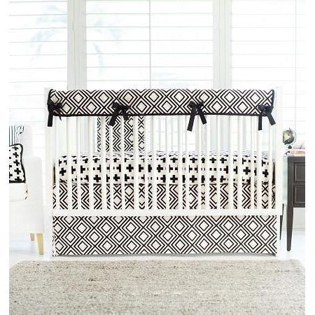 Black and White Swiss Cross Baby Bedding Set-Crib Bedding Set-Default-Jack and Jill Boutique