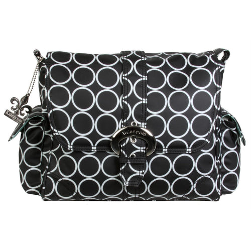 Black Holes Midi Matte Coated Buckle Diaper Bag | Style 2959 - Kalencom-Diaper Bags-Jack and Jill Boutique