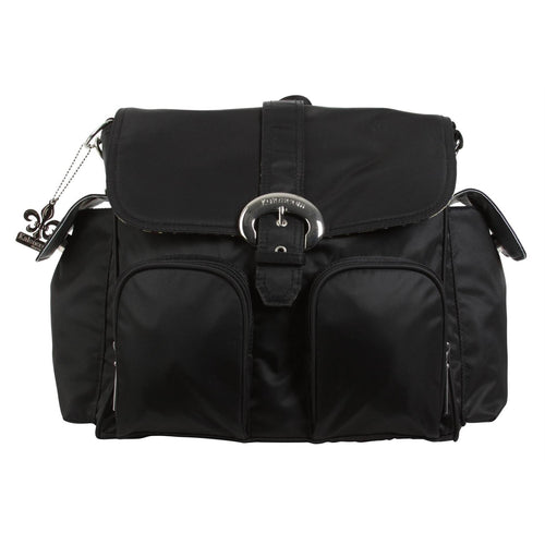 Black Nylon Double Duty Diaper Bag | Style 2991 - Kalencom-Diaper Bags-Jack and Jill Boutique