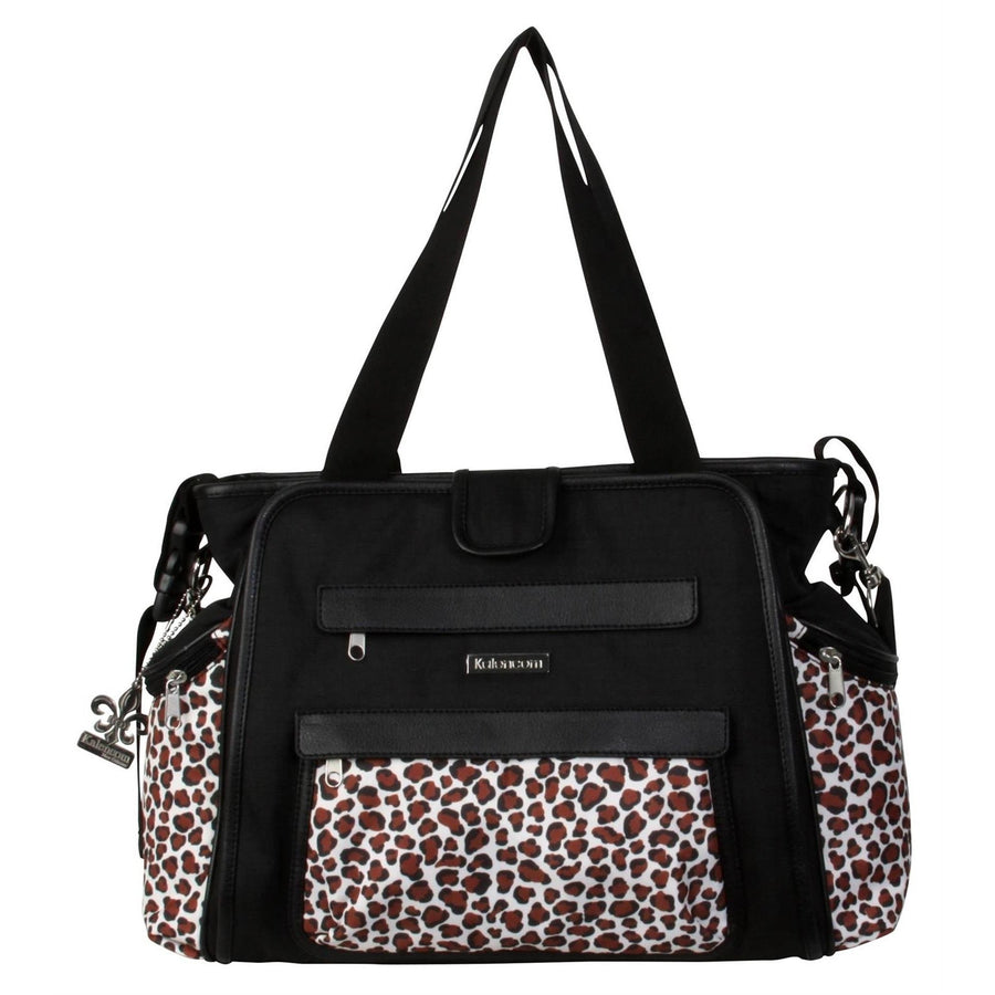 Black / Safari Cheetah Nola Tote Diaper Bag | Style 2994 - Kalencom