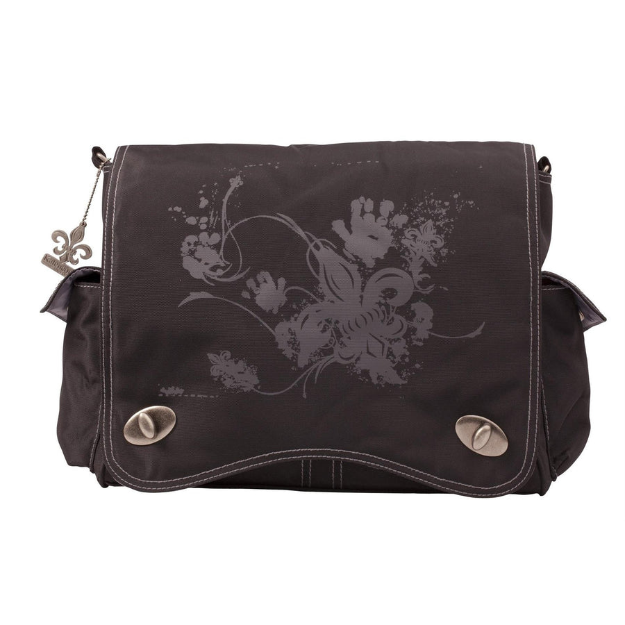 Black Screened Sam'S Messenger Diaper Bag | Style 2962 - Kalencom-Diaper Bags-Default-Jack and Jill Boutique