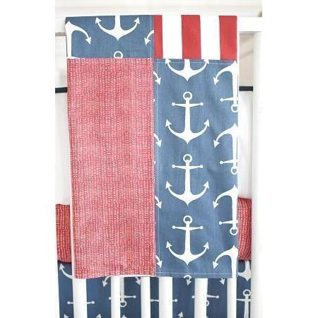 Blanket | Anchors Away in Navy Nautical-Baby Blanket-Default-Jack and Jill Boutique