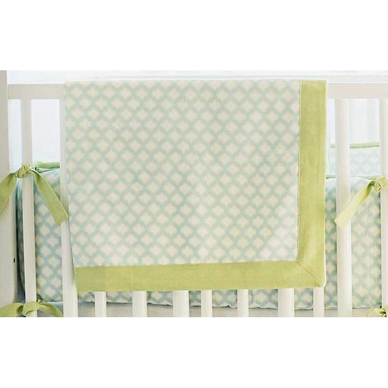 Blanket | Aqua & Green Sprout-Baby Blanket-Jack and Jill Boutique