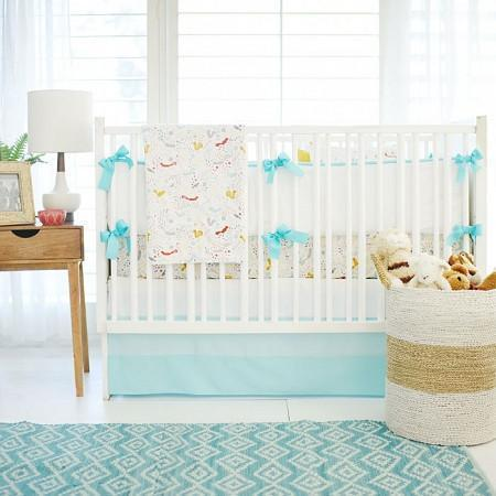 Blanket | Aqua Woodland Faraway Forest-Baby Blanket-Jack and Jill Boutique