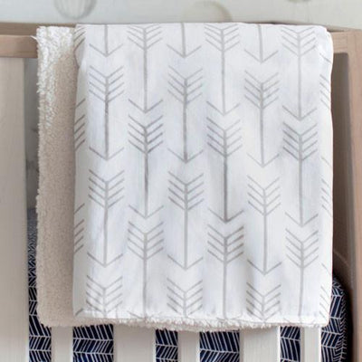 Blanket | Arrow Be Brave Faux Fur-Baby Blanket-Jack and Jill Boutique