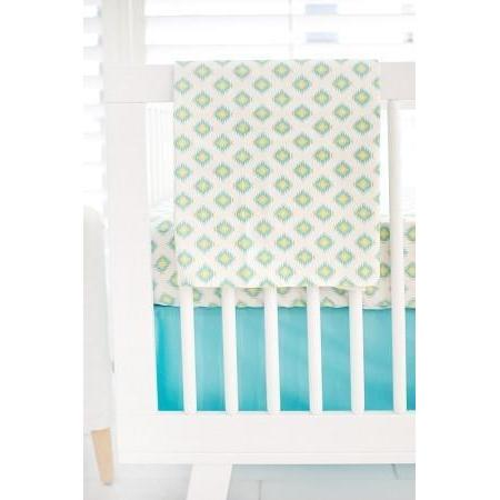 Blanket | Aztec Baby in Aqua-Baby Blanket-Jack and Jill Boutique