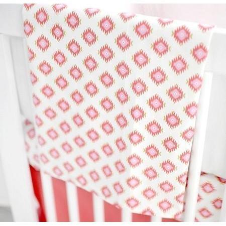 Blanket | Aztec Baby in Coral-Baby Blanket-Jack and Jill Boutique
