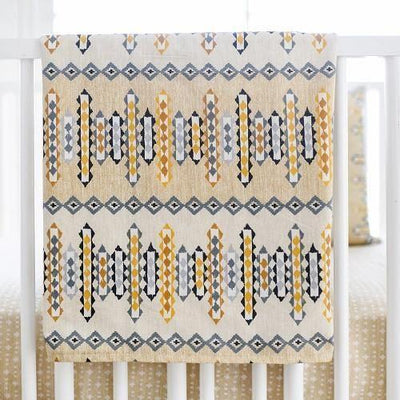 Blanket | Aztec Navajo in Gold-Baby Blanket-Jack and Jill Boutique
