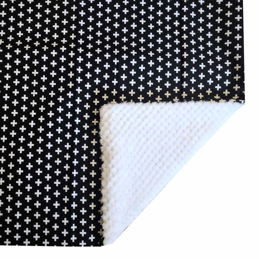 Blanket | Black Swiss Cross Black and White-Baby Blanket-Default-Jack and Jill Boutique