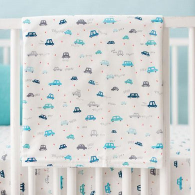 Blanket | Blue Transportation On My Way Vroom Baby Bedding Set