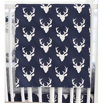 Blanket | Deer Buck Forest in Twilight-Baby Blanket-Jack and Jill Boutique