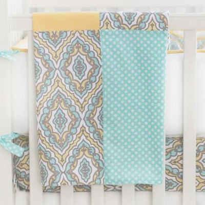 Blanket | Dreamweaver Yellow and Aqua-Baby Blanket-Jack and Jill Boutique