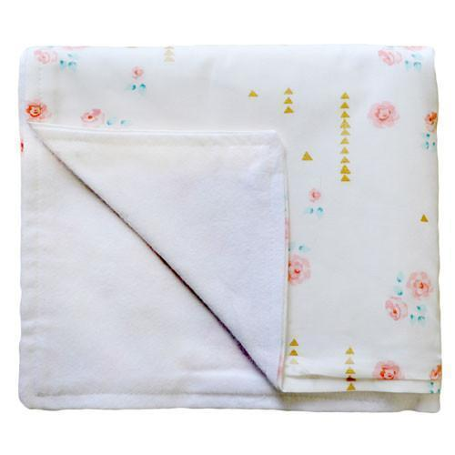 Blanket | Floral Rosemilk-Baby Blanket-Jack and Jill Boutique