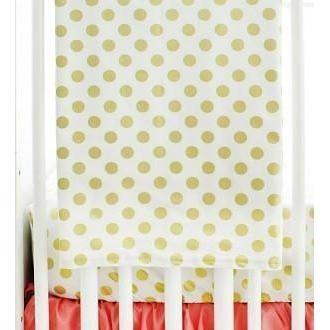 Blanket | Gold & Pink Gold Polka Dot in Coral-Baby Blanket-Jack and Jill Boutique
