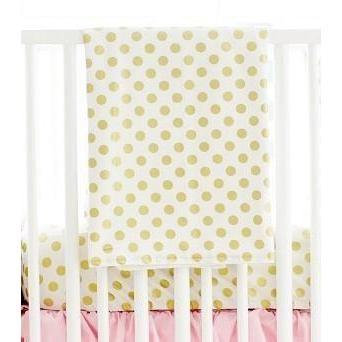 Blanket | Gold Polka Dot in Pink-Baby Blanket-Jack and Jill Boutique