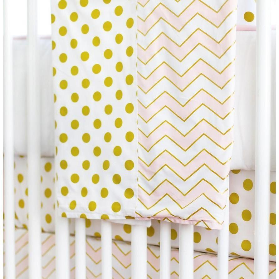 Baby Blanket-Jack and Jill Boutique-Blanket | Gold Rush in Pink