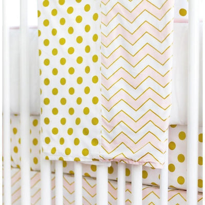 Blanket | Gold Rush in Pink-Baby Blanket-Jack and Jill Boutique