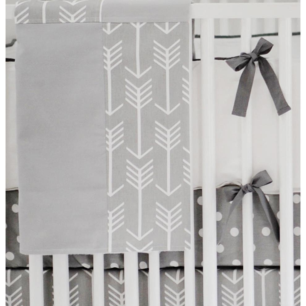 Blanket | Gray Arrow Wanderlust in Gray-Baby Blanket-Jack and Jill Boutique