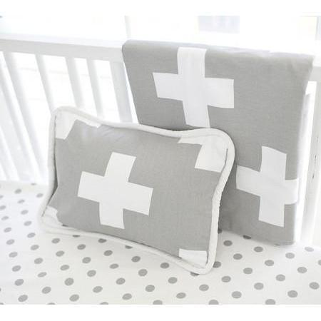 Blanket | Gray Swiss Cross