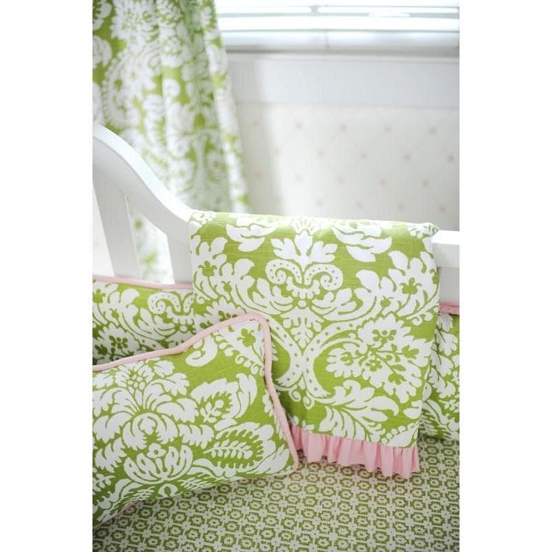 Blanket | Green Damask Bloom in Apple-Baby Blanket-Jack and Jill Boutique