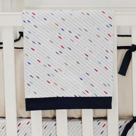 Blanket | Happy Camper Navy and White-Baby Blanket-New Arrivals-Jack and Jill Boutique