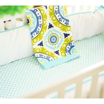 Blanket | Indigo Summer Aqua and White-Baby Blanket-Jack and Jill Boutique