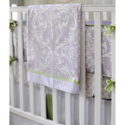 Blanket | Lavender Damask Sweet Violet-Baby Blanket-Jack and Jill Boutique
