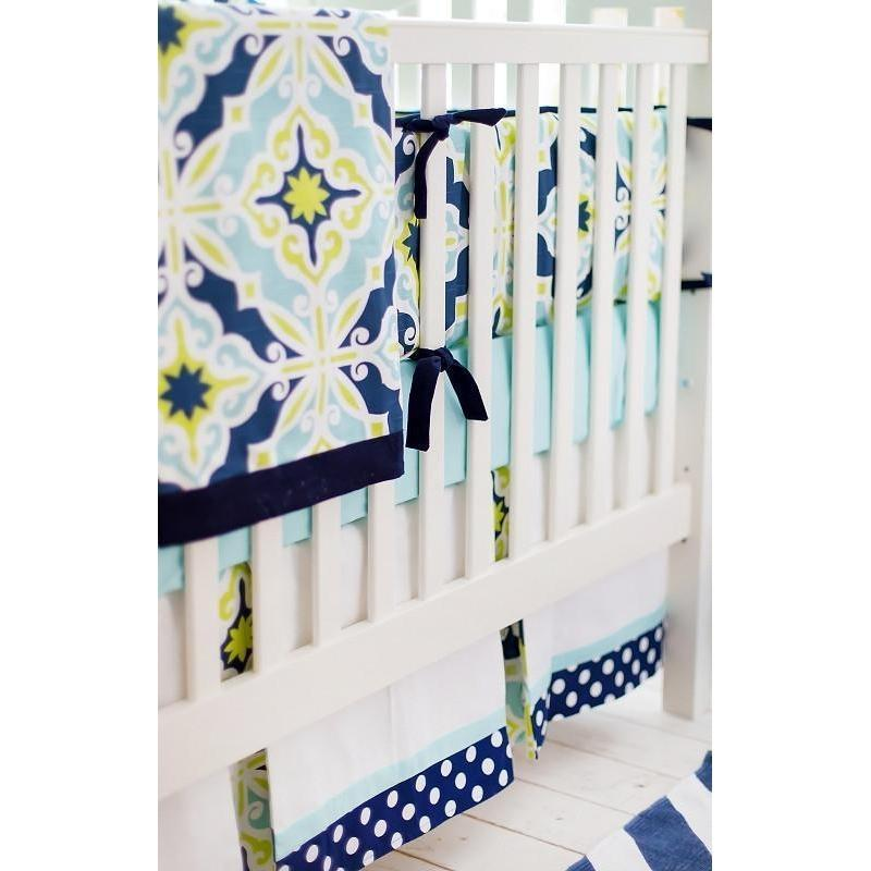 Blanket | Lime Green & Navy Starburst in Kiwi-Baby Blanket-Jack and Jill Boutique