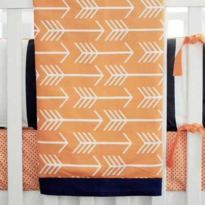 Blanket | Orange & Navy Arrow Out & About-Baby Blanket-Jack and Jill Boutique
