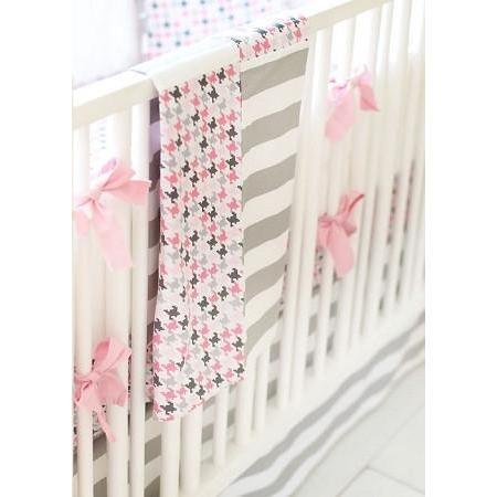 Blanket | Pink & Gray Paper Moon-Baby Blanket-Jack and Jill Boutique