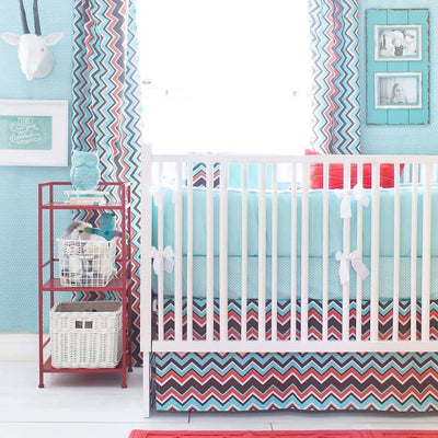 Blanket | Piper in Aqua-Baby Blanket-Jack and Jill Boutique