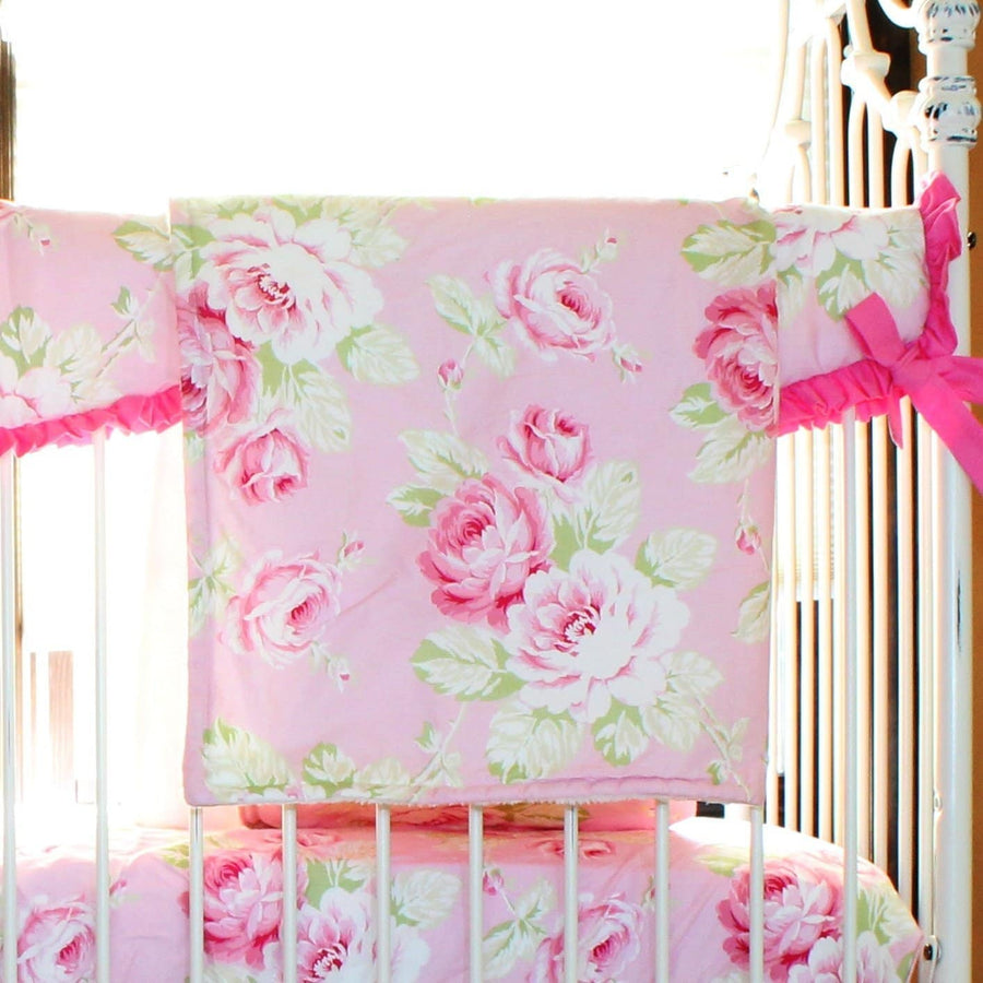 Blanket | Shabby Chic Roses-Baby Blanket-Minky-Jack and Jill Boutique