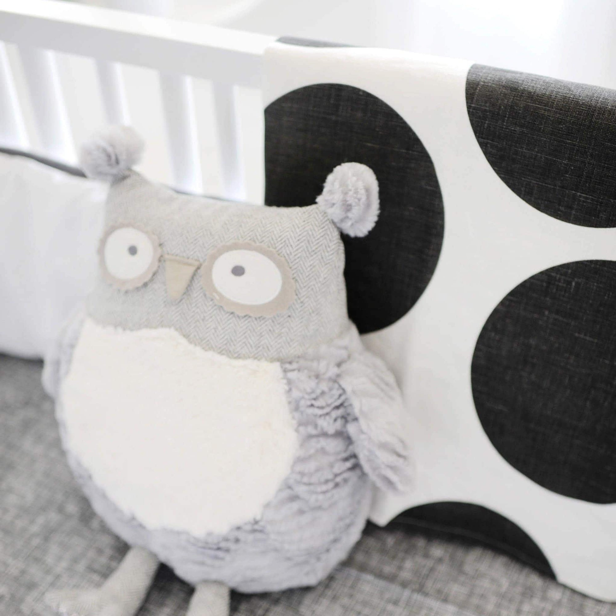 Blanket | Spot On Charcoal-Baby Blanket-Jack and Jill Boutique