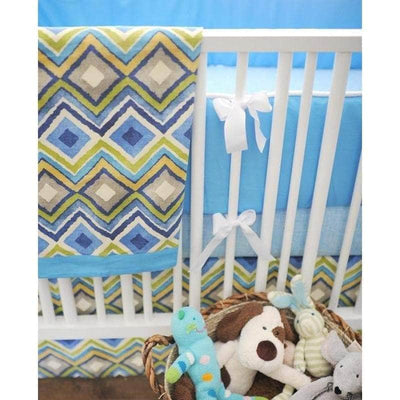 Blanket | Street of Dreams Blue and Yellow-Baby Blanket-Jack and Jill Boutique