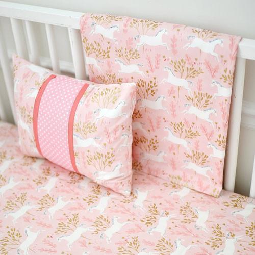 Blanket | Unicorn in Pink-Baby Blanket-Jack and Jill Boutique