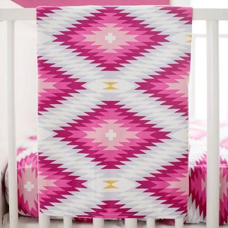 Blanket | Wander in Pink-Baby Blanket-Jack and Jill Boutique