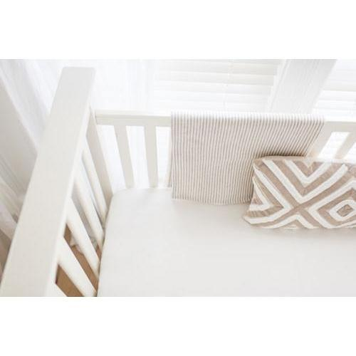 Blanket | Washed Linen in Ecru Stripe Baby Bedding Set